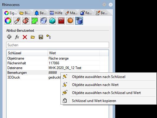 Arbeiten mit Benutzertext- Feldern